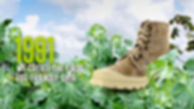 1991年推出的首雙環境友善靴款