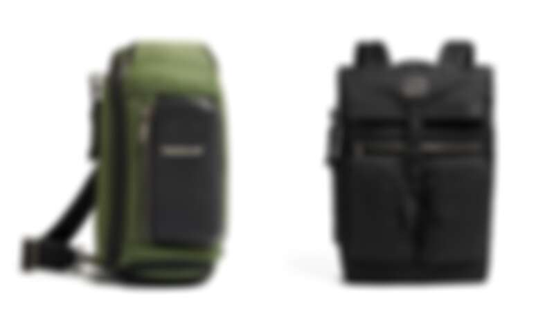 (左起)Alpha Bravo Kelly斜後背包(NT$11,200)、Alpha Bravo Lance後背包(NT$18,200)