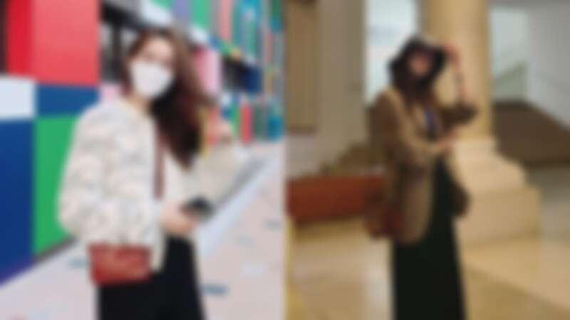 潤娥從去年開始背,背到今年「防疫時尚」還在背