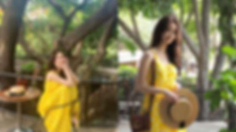 潤娥去年剛入手時,立刻帶出門拍超美穿搭照