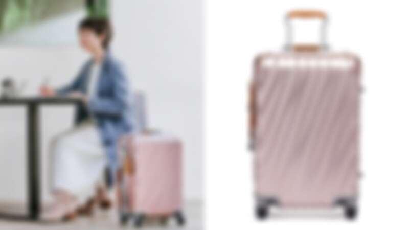 19Degree 鋁合金20吋行李箱:玫瑰金(NT$39,800)