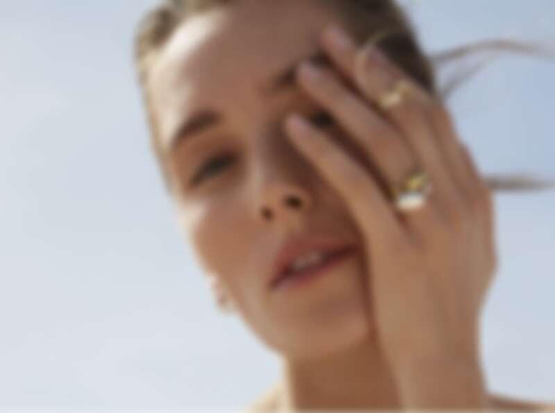 MERCY系列18K金戒指,NT39,000起、純銀戒指,NT7,200 、18K金鋪鑽戒指,NT91,000起。
