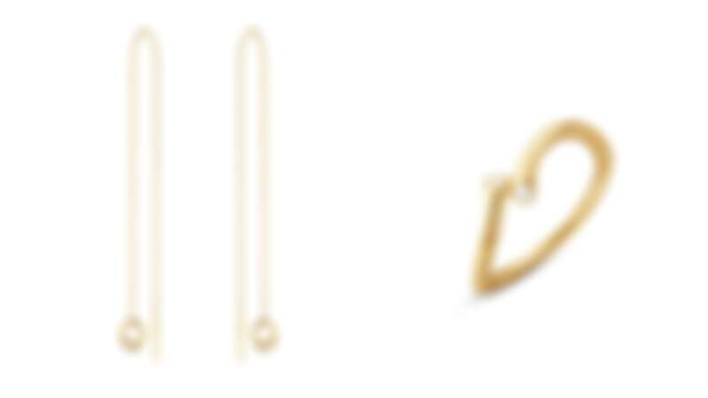 MAGIC系列 18K金耳掛式耳環,NT22,600、18K金鑽石戒指,NT31,000。