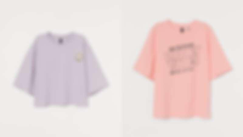 薰衣草紫上衣NT$249、粉色上衣NT$399