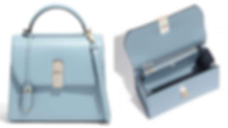 BOXYZ天藍色牛皮提包(NT$86,900)