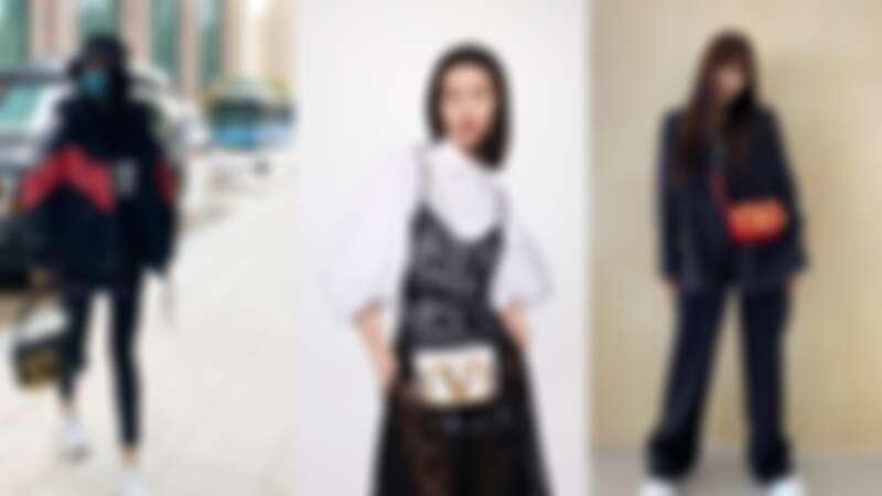 楊冪手拿大尺寸;劉雯、韓星Joy背的是小尺寸