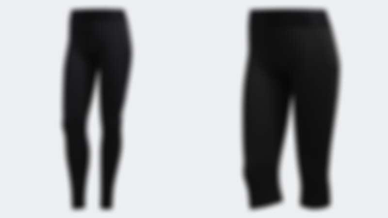 (左起)ALPHASKIN緊身褲(NT$1,690)、ALPHASKIN五分緊身褲(NT$1,290)
