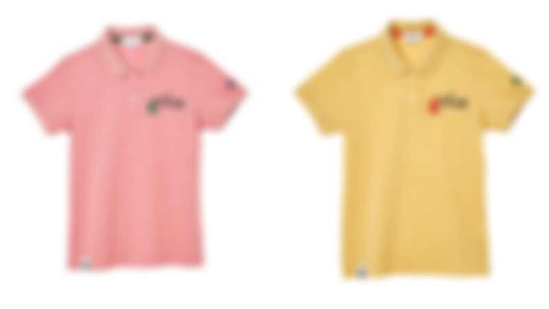 採用玫瑰染出粉紅色、向日葵染出黃色的拯救企鵝系列Polo衫(NT$7,690)