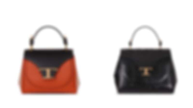 (黑橘拼接)NT$72,300、(黑色蛇皮)NT$153,700