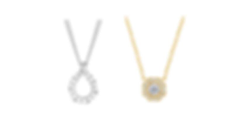 Lorelei Crescent鑽石項鏈、Lorelei Floral 18K黃金鑽石項鏈,all by Hearts On Fire