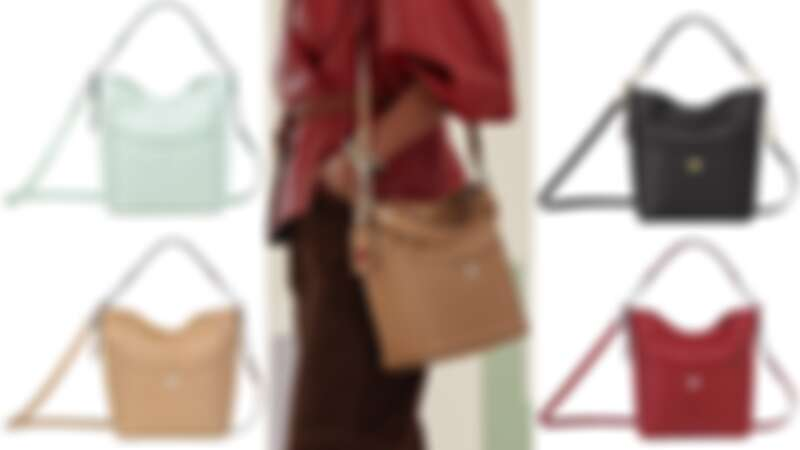 Mademoiselle Longchamp系列水桶包(NT$33,500)