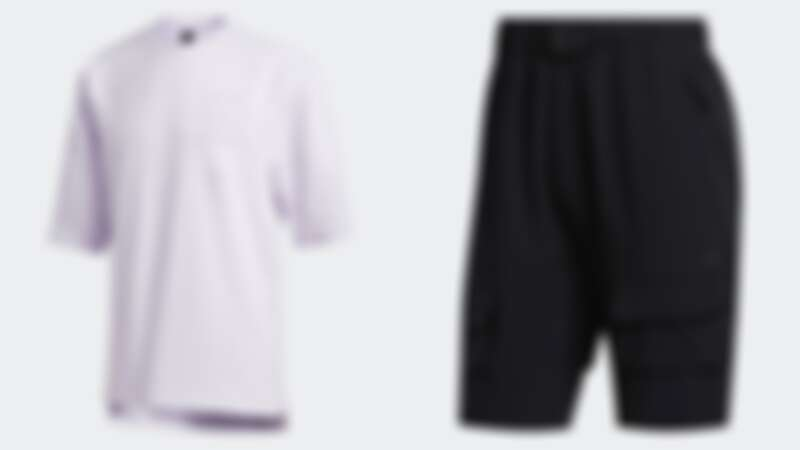 上衣(NT$1,490)、短褲(NT$2,290)