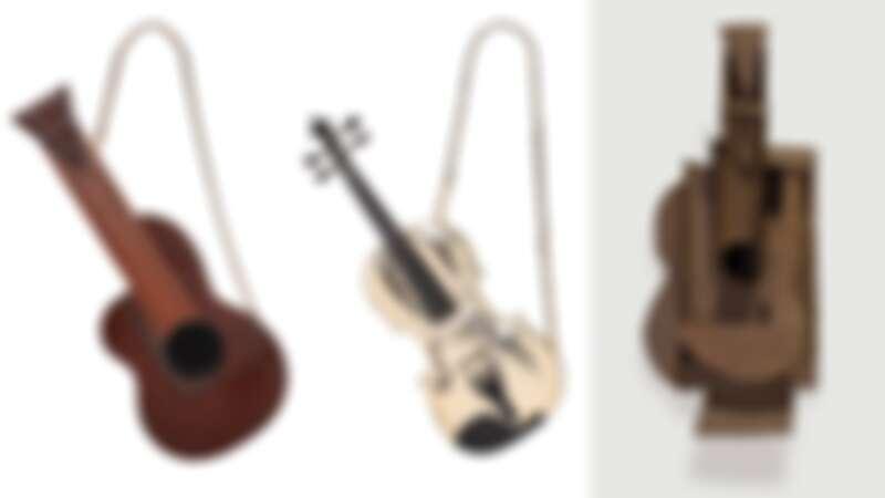 以《吉他》雕塑為靈感設計的小包