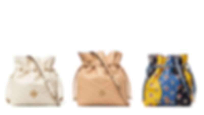 (左起)白 NT$18,900、奶茶 NT$23,900、小雛菊印花三色拼接 NT$29,900