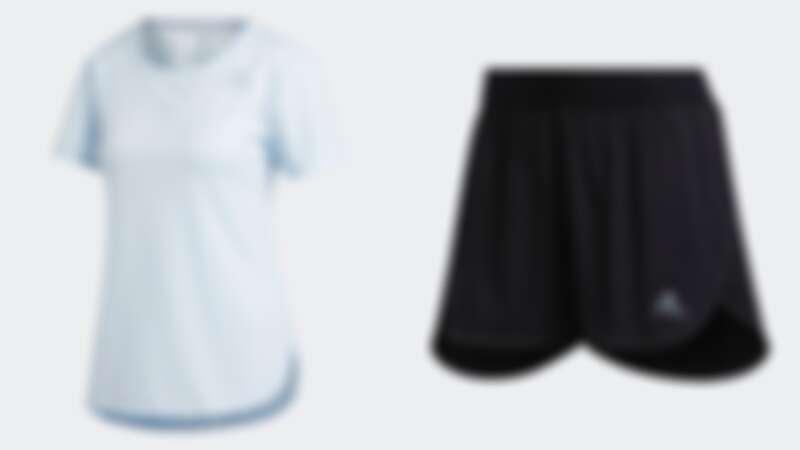 張鈞甯同款上衣(NT$1,490)、短褲(NT$1,490)