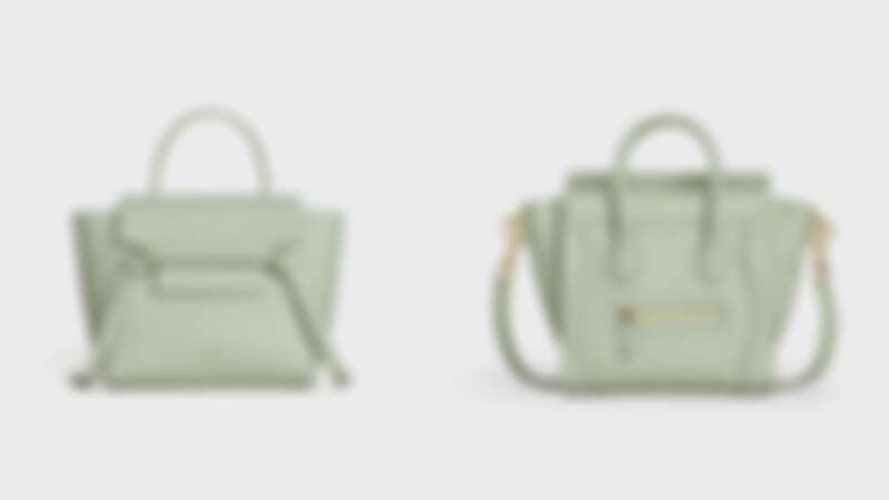 BELT小牛皮肩背提包(NT$69,000)、LUGGAGE小牛皮肩背提包(NT$81,000)
