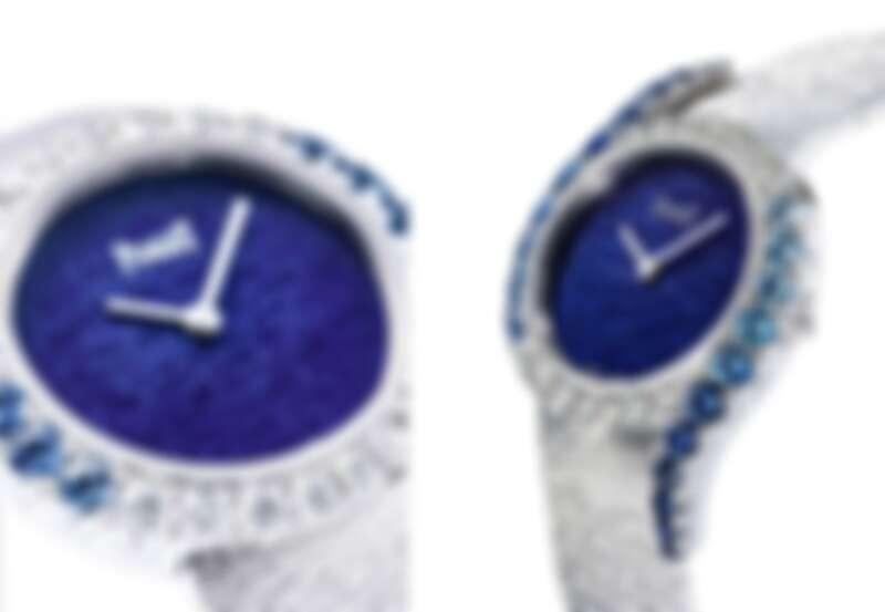 PIAGET Limelight Gala系列18K白金漸層藍寶石鑲鑽高級珠寶腕錶