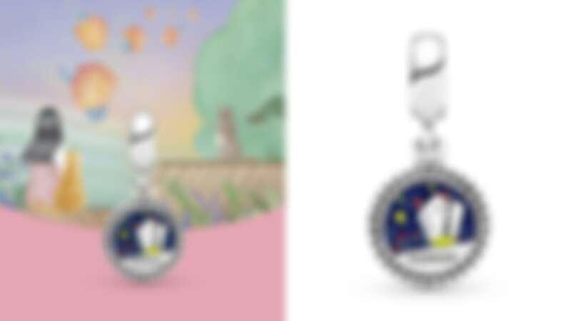 [Pandora 台灣限定款] 祈福天燈925銀琺瑯吊飾,NT2,080