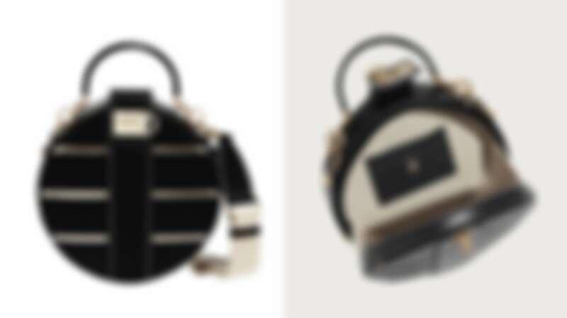 Studio 黑色小牛皮圓包(NT$79,900)