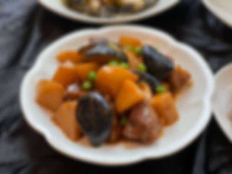 烏殼筍燒梅花肉