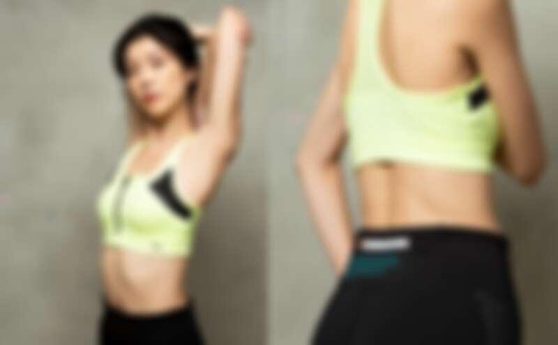 PUMA訓練系列FZ高衝擊運動內衣,NT1,680、 PUMA訓練系列First Mile 9分緊身褲,NT1,880。