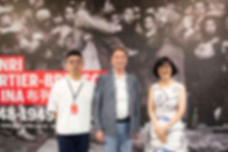 《布列松在中國》策展人蘇盈龍、Michel Frizot;北美館館長林平。