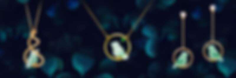 林曉同葫蘆青鳥墜飾、微型青鳥套鍊、幸福青鳥耳環