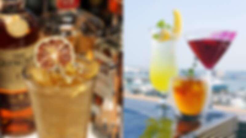 (左)望安冰茶、(右)「在地特調」如菊島夏至、陽光沙灘仙人掌、外婆的澎湖灣