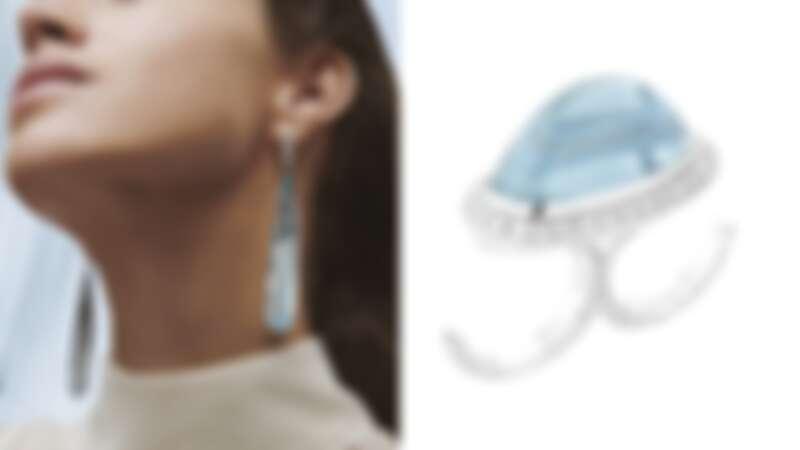 Boucheron寶詩龍2020年全新Contemplation系列Bleu Infini主題吊墜耳環與指間戒