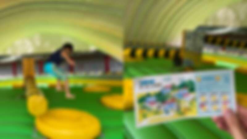 360度巨型橫木旋轉的「進擊的巨棍」,堪稱節奏與體力大挑戰!