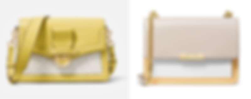 Cece檸檬黃撞色鍊帶包、Jade檸檬黃與櫻花粉撞色鍊帶包