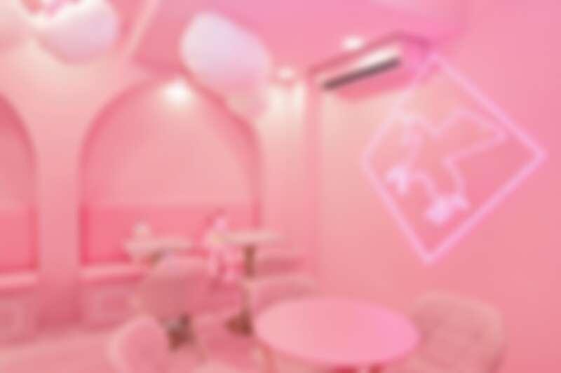 粉紅色座位區