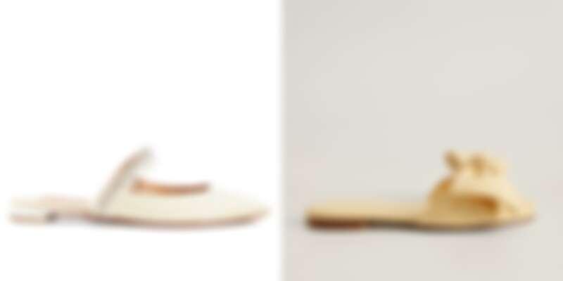 售價:(左)Aquazzura 約NT2,300、(右)Mango 約NT1,400