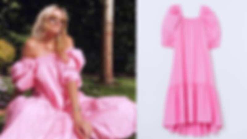 H&M Puff-Sleeved Cotton Dress