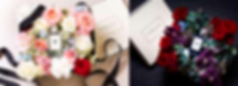 8月23~24日到下述4家Jo Malone London限定專櫃,凡購買100ml香水再加任一件商品,就會幫妳把香水包進充滿濃情蜜意的花盒裡(花盒請以現場為主)。