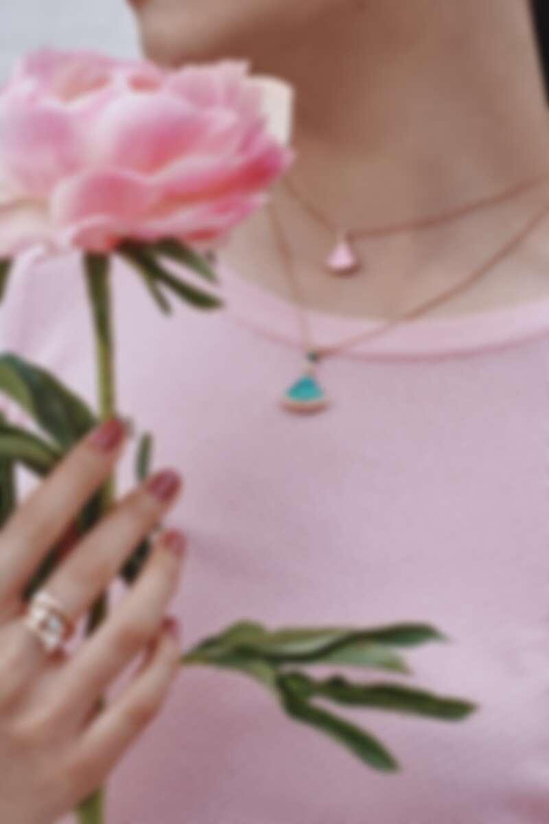 BVLGARI Divas' Dream系列七夕限定款粉紅蛋白石、粉紅剛玉與鑽石項鍊 參考售價約新台幣119,500元