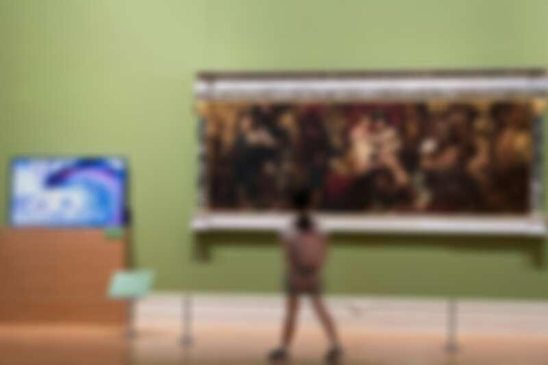 藝術廳還展出修復後的馬卡作品〈豐饒:大地的禮物〉
