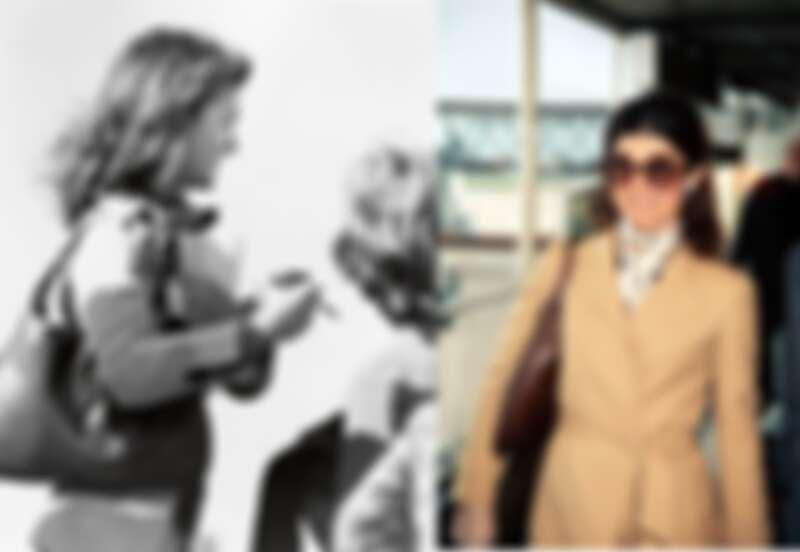 美國第一夫人賈桂琳‧甘迺迪(Jackie Kennedy) 經常在鏡頭前挽著這款包,成為一時佳話,包款更因而被冠以「The Jackie」的別號。