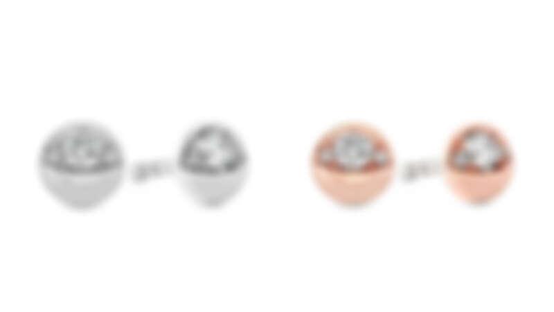 BEHATI BOLD SHAPE白K金鑽石耳環、BEHATI BOLD SHAPE玫瑰金鑽石耳環