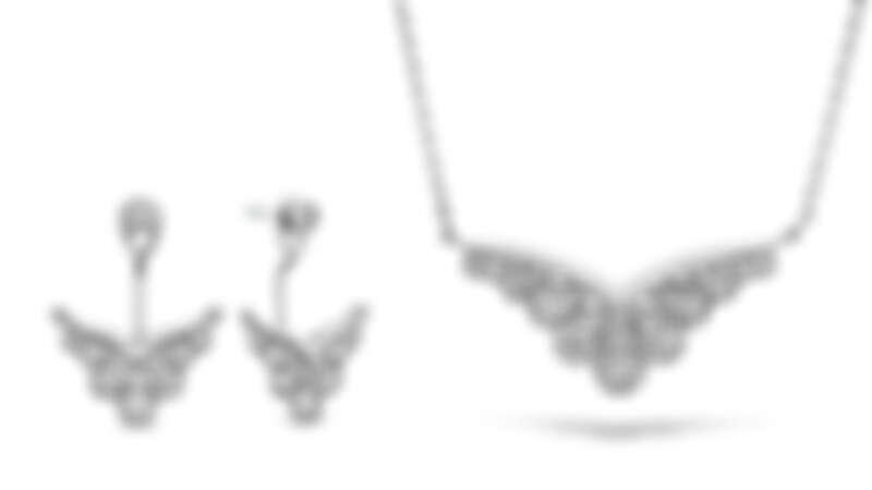 BEHATI SILHOUETTE白K金鑽石耳環、BEHATI SILHOUETTE白K金鑽石項鍊