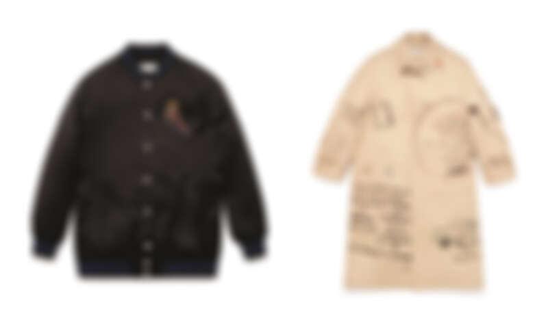 (左) Coach x Jean-Michel Basquiat聯名系列外套,NT$ 25,800、風衣,NT92,800。