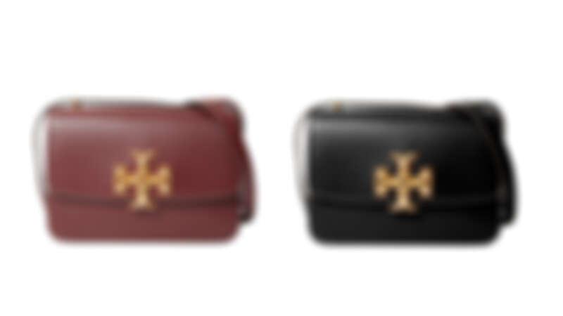 Tory Burch Eleanor系列酒紅色肩背包、黑色肩背包,各NT29,900。
