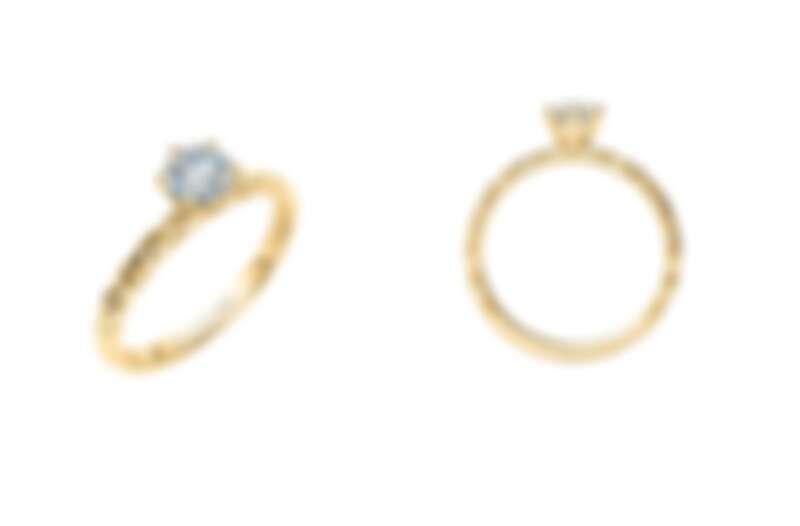 Hope Gleam求婚鑽戒。主鑽0.30-1.00ct,戒台售價18K NT$22,800 / 鉑金 NT$30,000,主鑽價格另計。