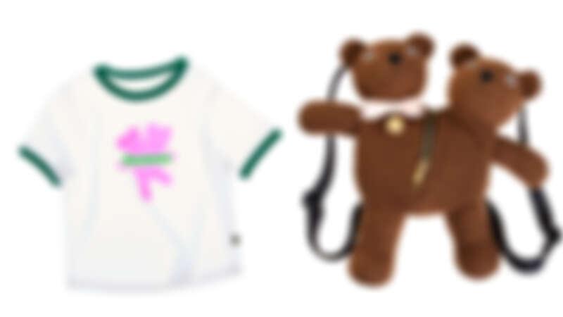 雙頭熊印花短Tee,NT3,290、雙頭熊背包,NT14,900。