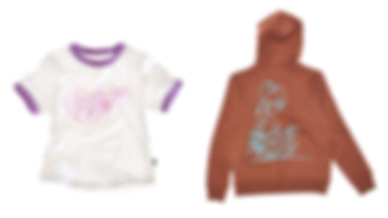 「泡芙Logo」印花短Tee,NT3,290、「Sweet Boy」印花帽Tee,NT7,990。