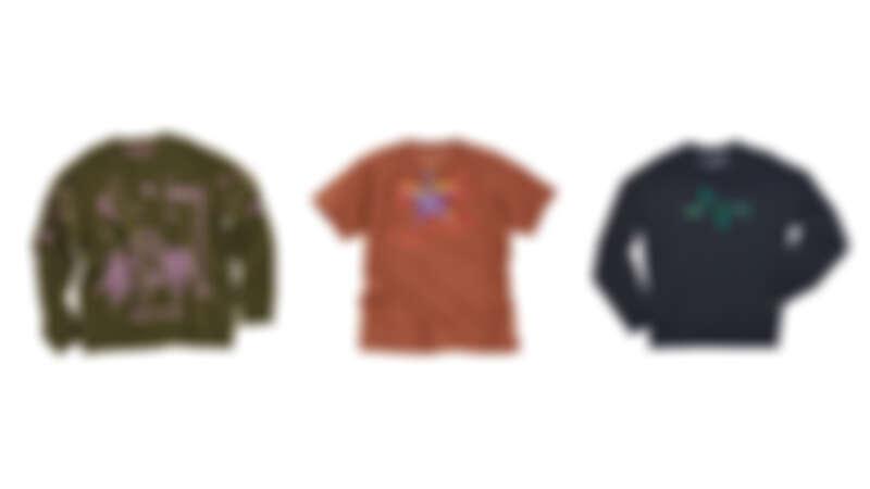 孤單的兔子Lonely Bunny印花上衣,NT12,900、海星Starfish印花T恤,NT3,690、青蛙腳印Frog Footsteps印花上衣,NT4,690。