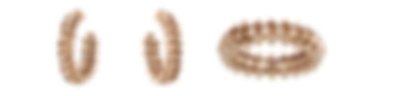 CLASH DE CARTIER系列玫瑰金耳環、玫瑰金戒指(共有小型款與大型款)。