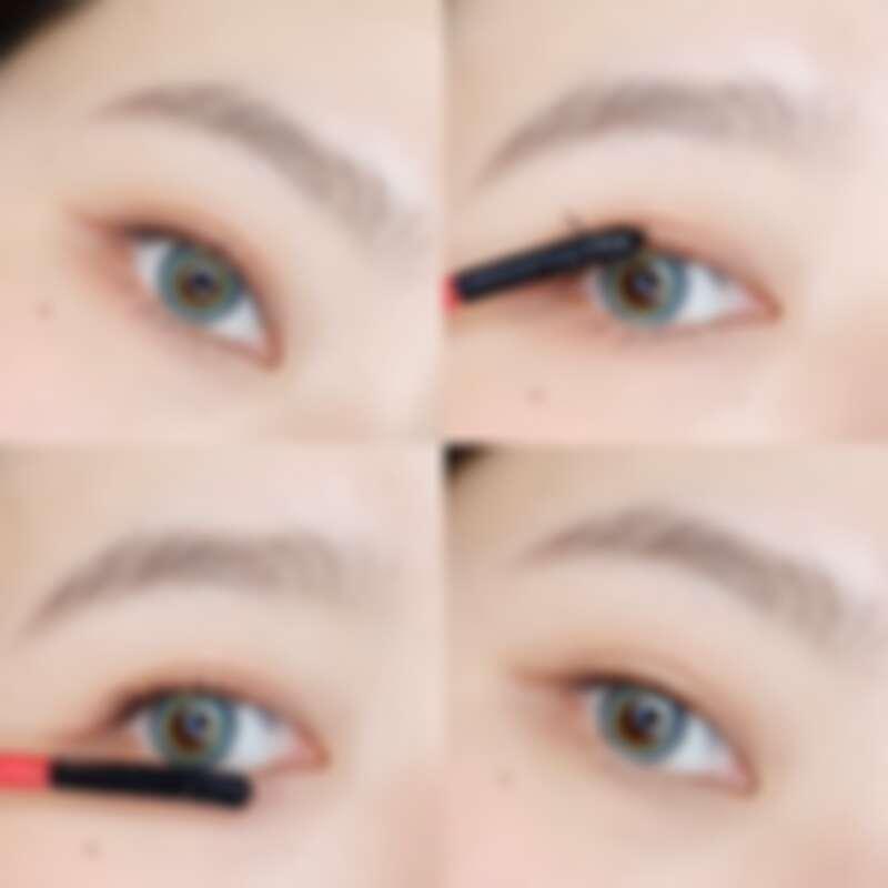 KOL林嫻實際使用CLIO珂莉奧絕色玩美睫毛膏卸除液,上下睫毛皆能完整卸除乾淨。