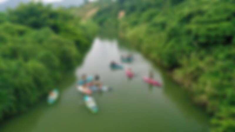 空拍的福隆「亞馬遜河」