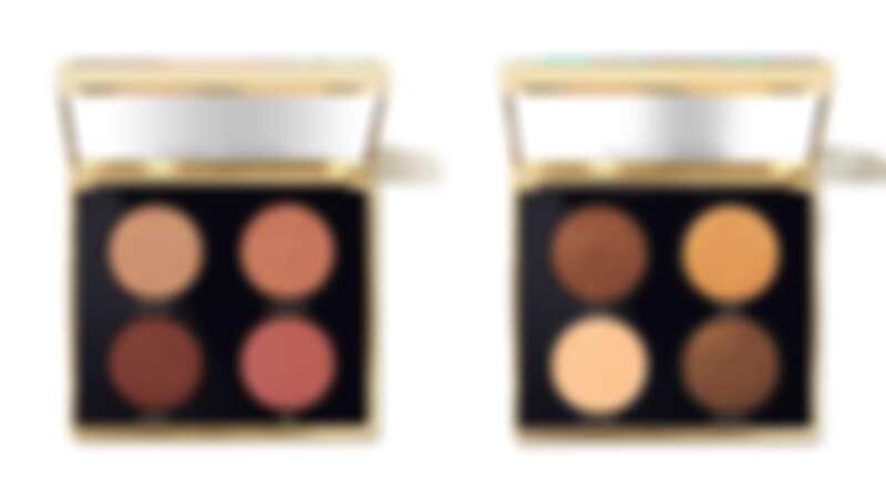 漫舞紐約4色眼彩盤,左:勃根地紅、右:薑餅可可